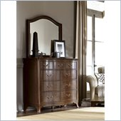 American Drew Cherry Grove Arched Mirror in Mid Tone Brown