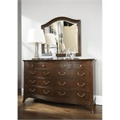 American Drew Cherry Grove Triple Dresser in Mid Tone Brown