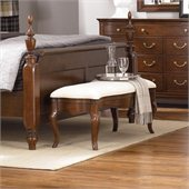 American Drew Cherry Grove Bed Bench in Mid Tone Brown