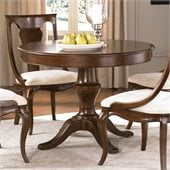 American Drew Cherry Grove Pedestal Dining Table in Mid Tone Brown