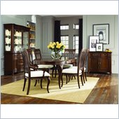 American Drew Cherry Grove Oval Dining Table in Mid Tone Brown
