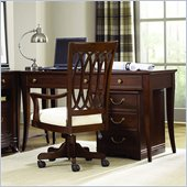 American Drew Cherry Grove Home Office Desk in Mid Tone Brown