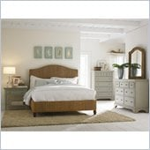 American Drew Ashby Park Banana Leaf Panel Bed 3 Piece Bedroom Set