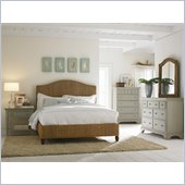American Drew Ashby Park Banana Leaf Panel Bed 4 Piece Bedroom Set