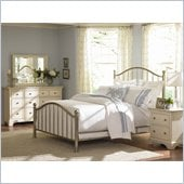 American Drew Ashby Park Nickel Plated Metal Bed 6 Piece Bedroom Set