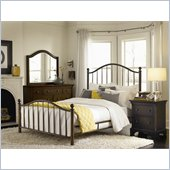 American Drew Ashby Park Dark Copper Metal Bed 3 Piece Bedroom Set