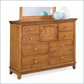 American Drew Sterling Pointe Landscape Mirror and Dresser Set in Maple