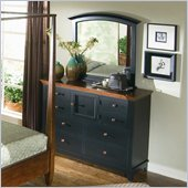 American Drew Sterling Pointe Vertical Mirror and Dresser Set in Black