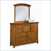 American Drew Sterling Pointe Vertical Mirror and Dresser Set in Cherry