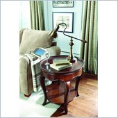 American Drew Cherry Grove Oval Wood Top End Table in Mid Tone Brown