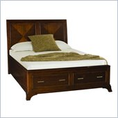 American Drew Essex Low Profile Queen Sleigh Bed in Mink