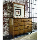 American Drew Americana Home Drawer Dresser in Warm Khaki Oak