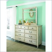 American Drew Americana Home Drawer Dresser in Weathered White