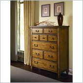 American Drew Americana Home Drawer Chest in Warm Khaki Oak