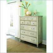 American Drew Americana Home Drawer Chest in Weathered White
