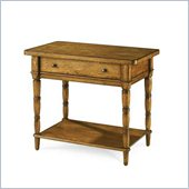 American Drew Americana Home Leg Nightstand in Warm Khaki Oak