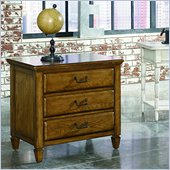 American Drew Americana Home Drawer Nightstand in Warm Khaki Oak