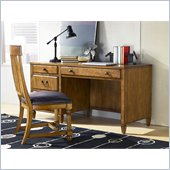 American Drew Americana Home Desk in Warm Khaki Oak