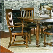 American Drew Americana Home Arm Chair in Warm Khaki Oak