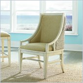 American Drew Americana Home Freeport Accent Chair in Weathered White