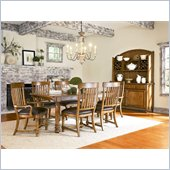 American Drew Americana Home Harvest Table in Warm Khaki Oak
