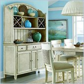 American Drew Americana Home Buffet Complete in Weathered White