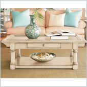 American Drew Americana Home Cocktail Table in Weathered White