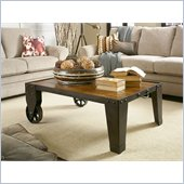 American Drew Americana Home Cocktail Table in Rustic Dark Oak