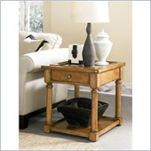 American Drew Americana Home End Table in Warm Khaki Oak