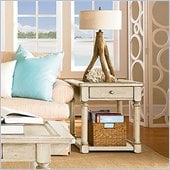 American Drew Americana Home End Table in Weathered White
