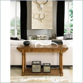 American Drew Americana Home Flip Top Console in Warm Khaki Oak
