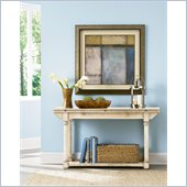 American Drew Americana Home Flip Top Console in Weathered White