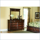 American Drew Barrington House Triple Dresser in Heirloom Cherry