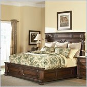 American Drew Barrington House Panel Bed in Heirloom Cherry