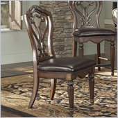American Drew Barrington House Side Chair in Heirloom Cherry