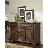 American Drew Barrington House Buffet Base in Heirloom Cherry