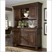 American Drew Barrington House Buffet Hutch in Heirloom Cherry