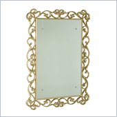 American Drew Jessica McClintock Silver Leaf Mirror