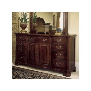 American Drew Cherry Grove 9 Drawer Triple Dresser with Doors in Antique Cherry