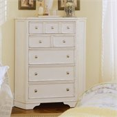 American Drew Camden 5 Drawer Corner Chest in Buttermilk Finish