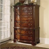 American Drew Cherry Grove 8 Drawer Chest on Chest in Antique Cherry Finish