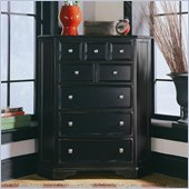 American Drew Camden Black 5 Drawer Corner Chest