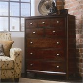 American Drew Tribecca 5 Drawer Chest in Root Beer Finish