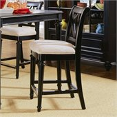 American Drew Camden 25 Inch Splat Back Bar Stool in Black Finish