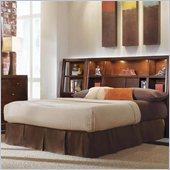 American Drew Tribecca Bookcase Bed 3 Piece Bedroom Set  in Root Beer