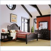 American Drew Camden Black Poster Panel Bed 3 Piece Bedroom Set