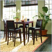 American Drew Tribecca Bar Table 5 Piece Pub Set in Root Beer