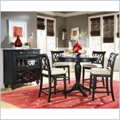 American Drew Camden Black Bar Height Pedestal 3 Piece Pub Set