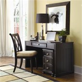 American Drew Camden Black Desk with File Cabinet
