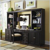 American Drew Camden Black Home Office Desk with File Cabinet